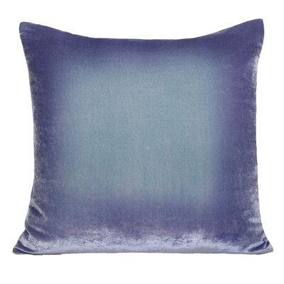 Ombre Velvet Throw Pillow Color: Cornflower, Size: 22 H x 22 W