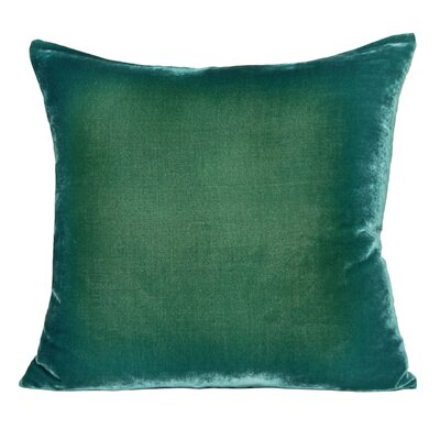 Ombre Velvet Throw Pillow Color: Emerald, Size: 22 H x 22 W