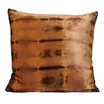 Rorschach Throw Pillow Color: Caramel, Size: 18 H x 18 W