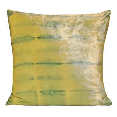 Rorschach Velvet Throw Pillow Color: Citron, Size: 18 H x 18 W