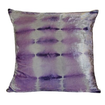 Rorschach Velvet Throw Pillow Color: Cornflower, Size: 18 H x 18 W