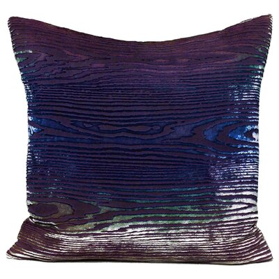 Woodgrain Velvet Throw Pillow Color: Peacock