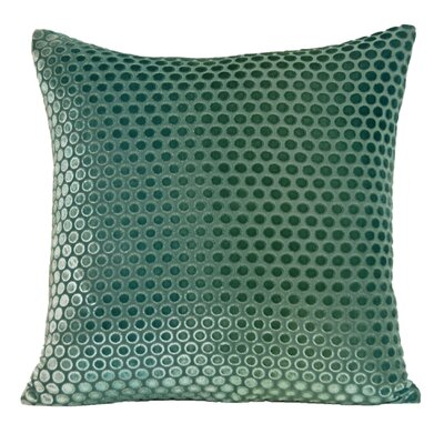 Dots Velvet Pillow Color: Emerald, Size: 18 H x 18 W x 4 D