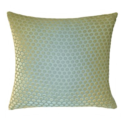 Dots Velvet Throw Pillow Color: Ice