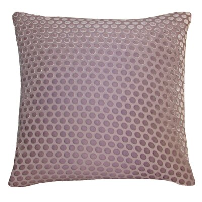 Dots Velvet Throw Pillow Color: Iris