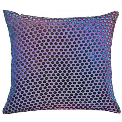 Dots Velvet Throw Pillow Color: Peacock
