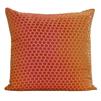 Dots Velvet Pillow Color: Pink / Gold, Size: 18 H x 18 W x 4 D