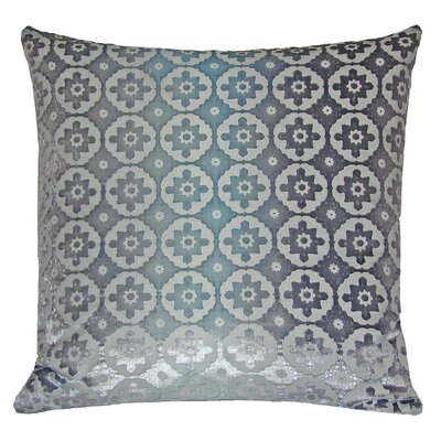 Small Moroccan Metallic Velvet Throw Pillow Color: Dusk