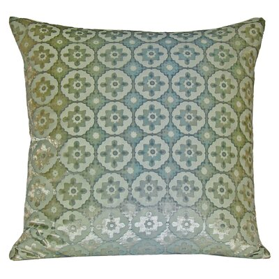 Small Moroccan Velvet Pillow Color: Ice, Size: 18 H x 18 W x 4 D