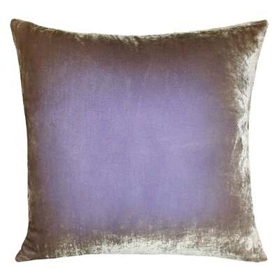 Ombre Velvet Throw Pillow Size: 22 H x 22 W, Color: Lilac