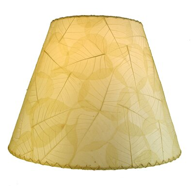 16 Banyan Leaf Empire Lamp Shade Shade Color: Natural