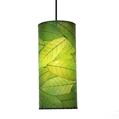 Cylinder 1-Light Mini Pendant Shade Color: Green