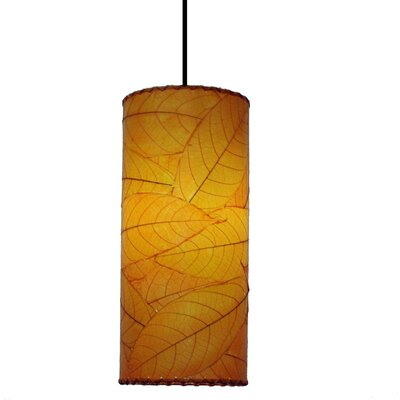 Cylinder 1-Light Mini Pendant Shade Color: Orange