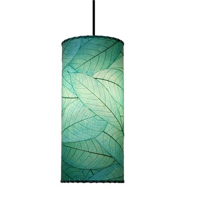 Cylinder 1-Light Mini Pendant Shade Color: Sea Blue