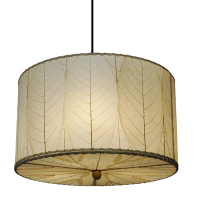 3-Light Drum Pendant Shade Color: Natural