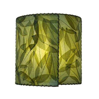 14 Guyabano Leaf Drum Wall Sconce Shade Color: Green