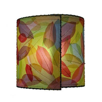 14 Guyabano Leaf Drum Wall Sconce Shade Color: Green/Purple