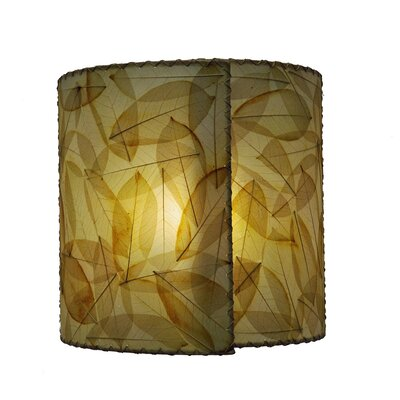 14 Guyabano Leaf Drum Wall Sconce Shade Color: Natural