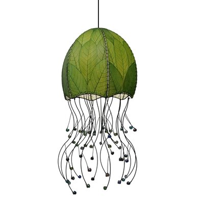 Hanging Jellyfish 1-Light Foyer Pendant Shade Color: Green