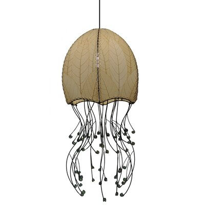 Hanging Jellyfish 1-Light Foyer Pendant Shade Color: Natural