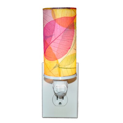 Cylinder Night Light Color: Yellow/Pink