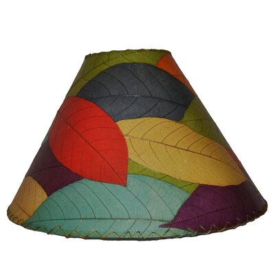 18 Cocoa Leaf Empire Lamp Shade Color: Red/Green