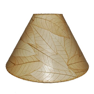 18 Cocoa Leaf Empire Lamp Shade Color: Natural