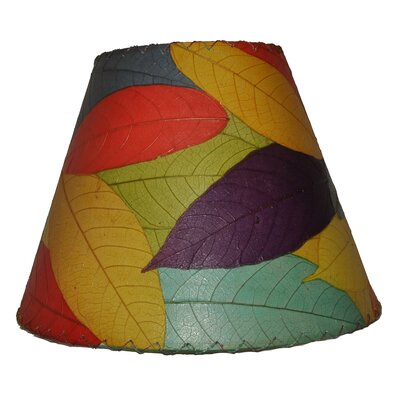 16 Cocoa Leaf Empire Lamp Shade Shade Color: Orange/Blue/Purple
