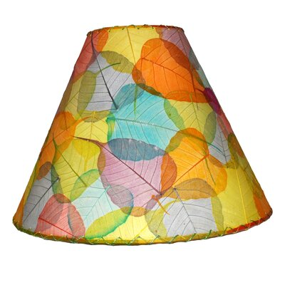 16 Banyan Leaf Empire Lamp Shade Shade Color: Yellow/Blue/Orange