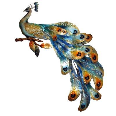 Peacock Seated Figurine m054