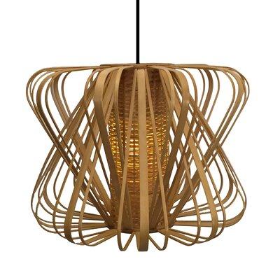 Bamboo Slat Tulip 1-Light Foyer Pendant