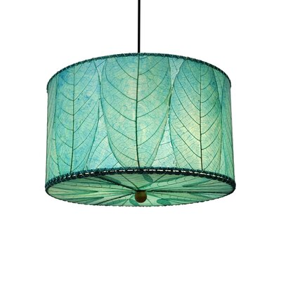 3-Light Drum Pendant Shade Color: Sea Blue