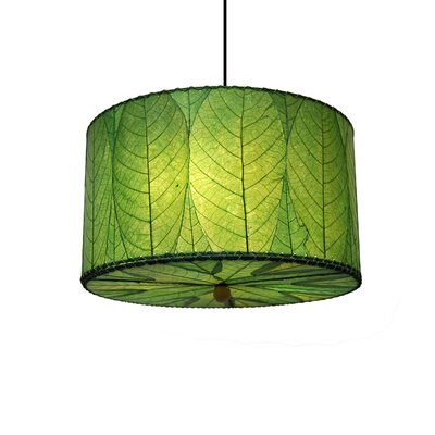 3-Light Drum Pendant Shade Color: Green