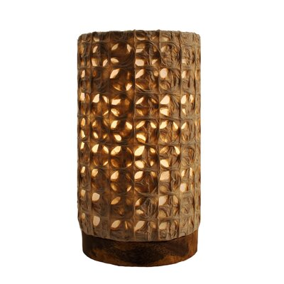 Paper Mesh Wood Votive Holder