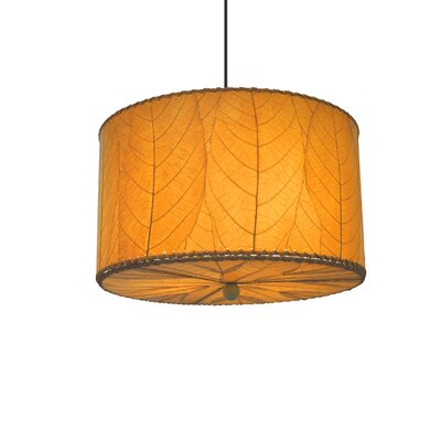 3-Light Drum Pendant Shade Color: Orange
