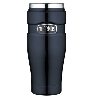 King 16 oz Leak Proof Travel Mug with Handle in Midnight Blue