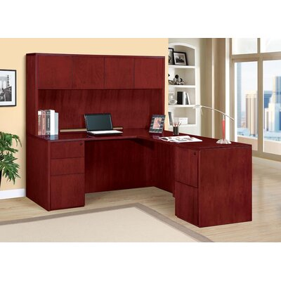 Saratoga 2 Piece L-Shape Desk Office Suite Product Picture 169