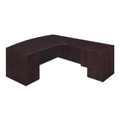 Saratoga L-Shape Executive Desk with Bow Front Orientation: Right, Finish: Mocha Product Picture 2003
