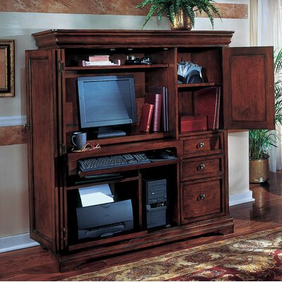 Innovative Solid Wood Computer Armoire