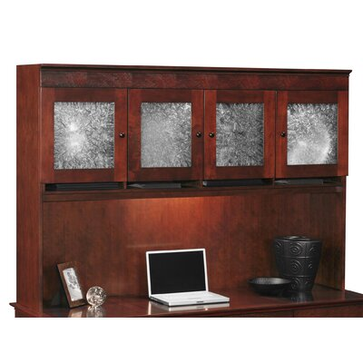 Del Mar 48 H x 69.5 W Desk Hutch Doors: Crackle Glass