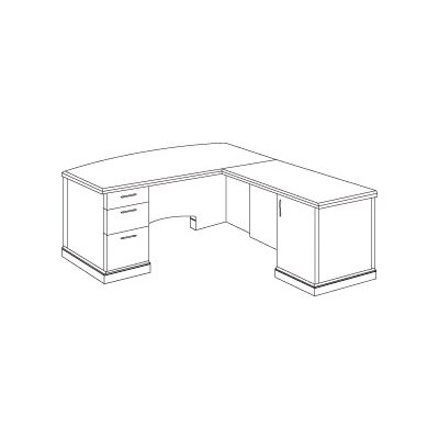 Belmont L Shape Executive Desk Orientation: Left Product Image 6528