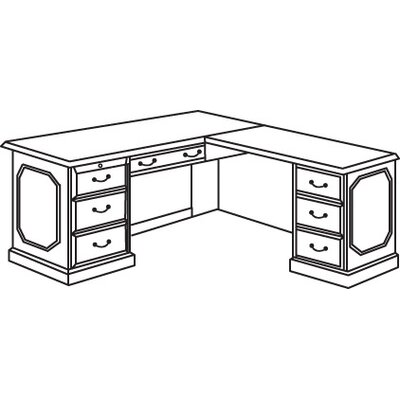 Governor's Right 66 L Executive Desk Orientation: Right Product Picture 2003