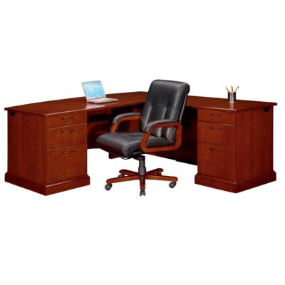 Belmont Right L Executive Desk with 6 Drawers Orientation: Right Product Image 128