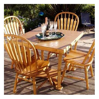 Puzzle Folding Bar Table Finish: Golden Oaks