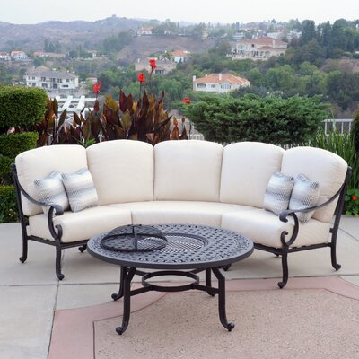 Milano 2 Piece Sectional Seating Group with Cushions Fabric: C Grade