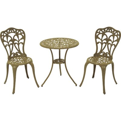 Flora 3 Piece Bistro Set Finish: Sand