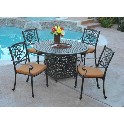 Meadow Decor Kingston 48 In Propane Dining Table Diam X 29h 2648 58 Your Friends And Family Will Love Enjoying A Meal Outdoors Whether It S Hot