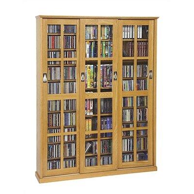Leslie Dame Sliding Glass 3 Door Multimedia Cabinet - Finish: Oak at Sears.com