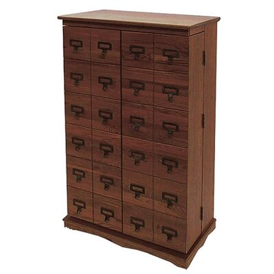 Leslie Dame Library Style Multimedia Storage Rack - Walnut at Sears.com