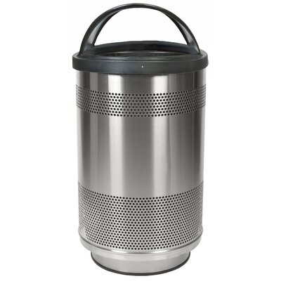 Stadium Series Perforated Metal 55-Gal Standard Unit with Hood Top Lid SC55-01-SS-HT